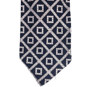 Reynolds Penland Tie Navy with Gray Squares